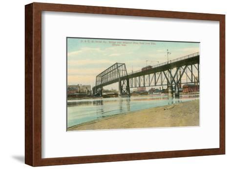 Bridge over Missouri, Omaha, Nebraska--Framed Art Print