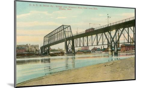 Bridge over Missouri, Omaha, Nebraska--Mounted Art Print