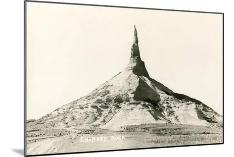 Chimney Rock, Nebraska--Mounted Art Print