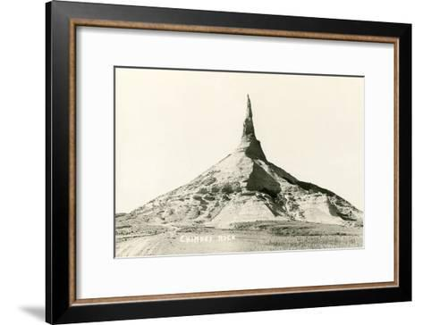 Chimney Rock, Nebraska--Framed Art Print