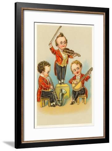 Band of Little Boys--Framed Art Print