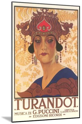 Art Deco Poster for Turandot--Mounted Art Print