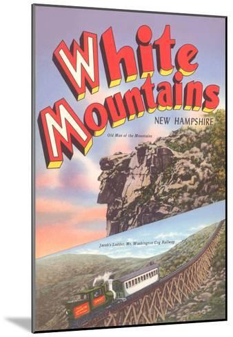 White Mountains, New Hampshire--Mounted Art Print