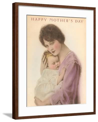 Happy Mother's Day, Sleeping Child--Framed Art Print