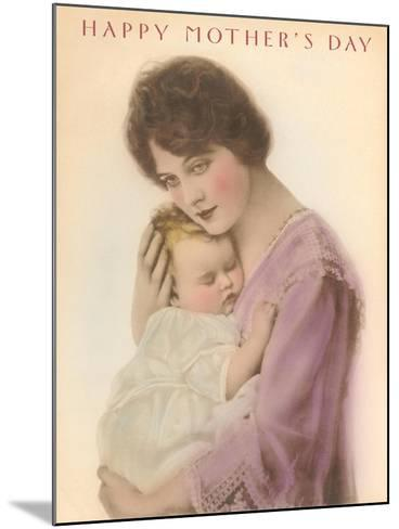Happy Mother's Day, Sleeping Child--Mounted Art Print