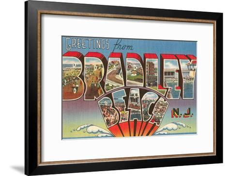 Greetings from Bradley Beach, New Jersey--Framed Art Print