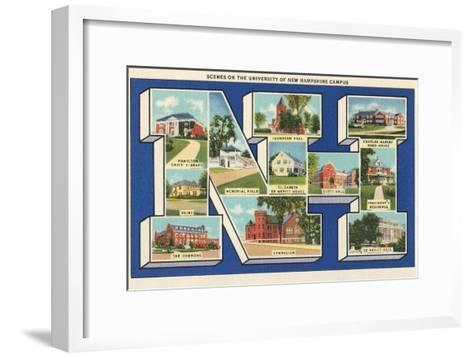 Greetings from Nh, University of New Hampshire--Framed Art Print