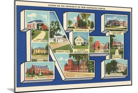 Greetings from Nh, University of New Hampshire--Mounted Art Print