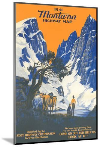Montana Highway Map--Mounted Art Print