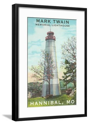 Mark Twain Lighthouse, Hannibal, Missouri--Framed Art Print