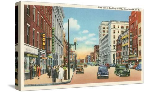 Downtown Manchester, New Hampshire--Stretched Canvas Print