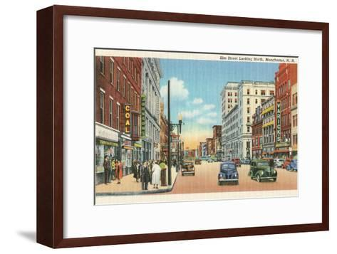Downtown Manchester, New Hampshire--Framed Art Print