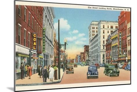 Downtown Manchester, New Hampshire--Mounted Art Print