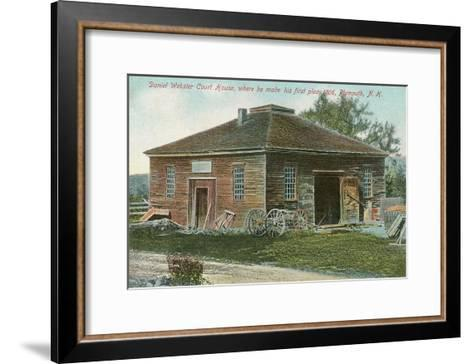 Daniel Webster Courthouse, Plymouth, New Hampshire--Framed Art Print