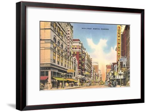Downtown Memphis--Framed Art Print