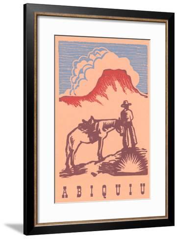Black Mesa, Abiquiu, New Mexico--Framed Art Print