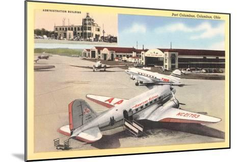 Port Columbus Airport--Mounted Art Print
