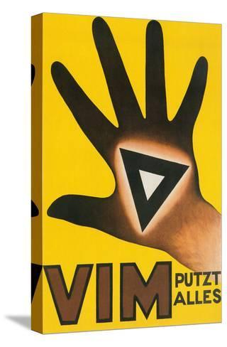 Vim Putzt Alles Poster--Stretched Canvas Print
