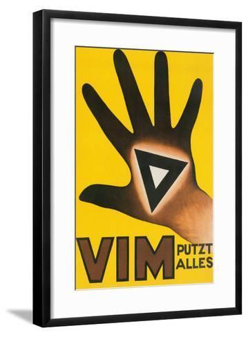 Vim Putzt Alles Poster--Framed Art Print