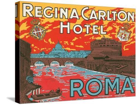 Regina Carlton Hotel, Rome--Stretched Canvas Print