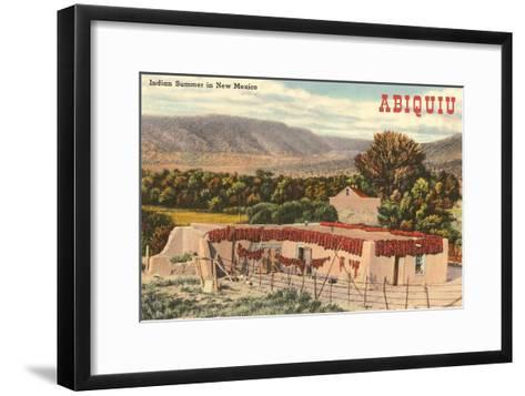 Adobe House, Abiquiu, New Mexico--Framed Art Print