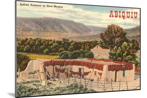 Adobe House, Abiquiu, New Mexico--Mounted Art Print