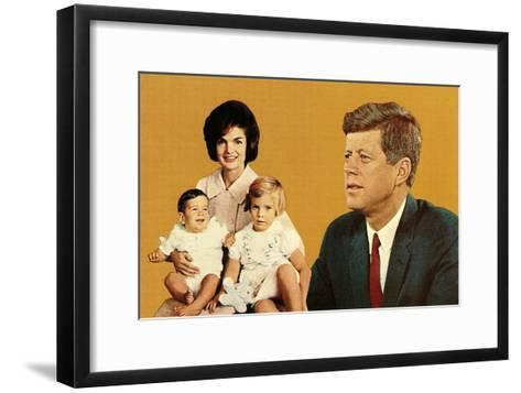 Young Kennedy Family--Framed Art Print