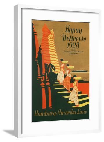 HAPAG World Cruise, Travel Poster--Framed Art Print