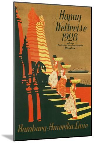 HAPAG World Cruise, Travel Poster--Mounted Art Print