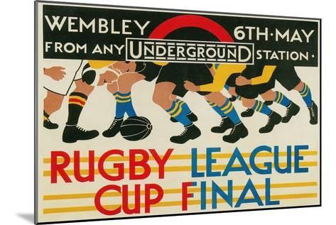 Rugby League Cup Final at Wembley--Mounted Art Print