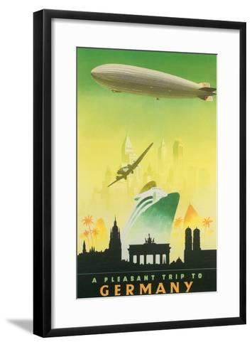 A Pleasant Trip to Germany--Framed Art Print