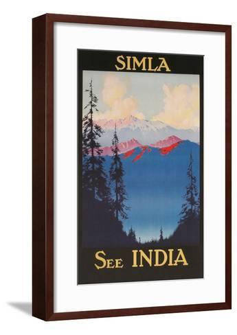 See India, Travel Poster for Simla--Framed Art Print