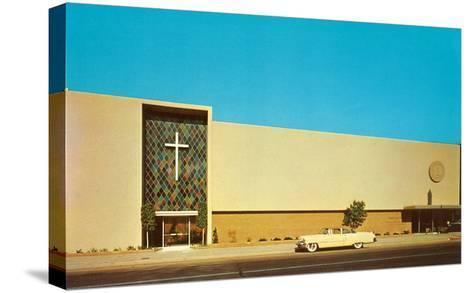 Fifties Mega-Church--Stretched Canvas Print