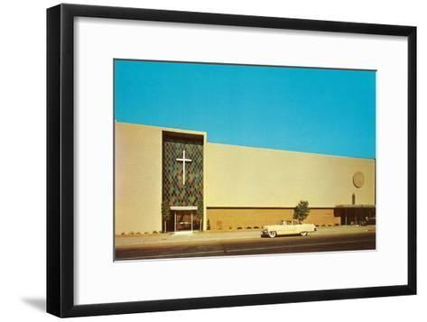 Fifties Mega-Church--Framed Art Print