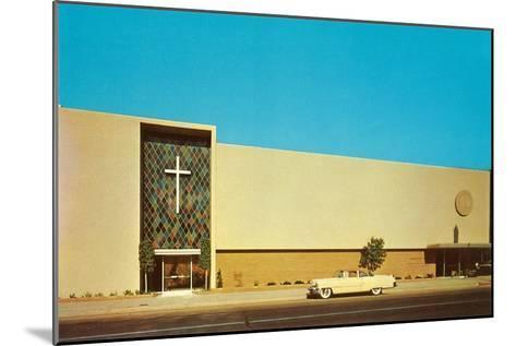 Fifties Mega-Church--Mounted Art Print