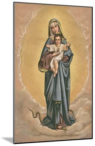 Virgin Mary and Jesus Treading on Snake--Mounted Art Print