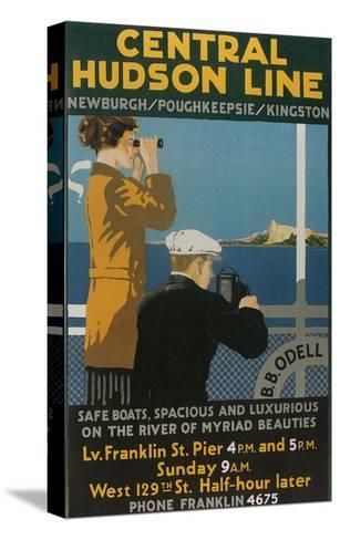 Travel Poster, Central Hudson Line--Stretched Canvas Print