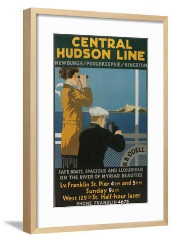 Travel Poster, Central Hudson Line--Framed Art Print