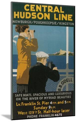 Travel Poster, Central Hudson Line--Mounted Art Print