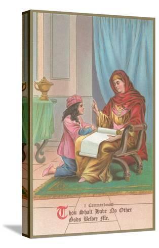 First Commandment Illustration--Stretched Canvas Print