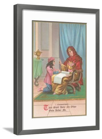 First Commandment Illustration--Framed Art Print