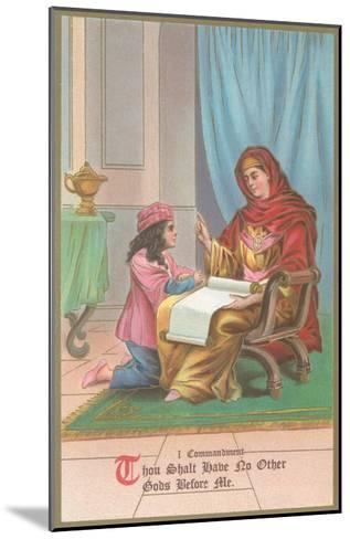 First Commandment Illustration--Mounted Art Print