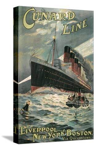 Vintage Travel Poster for Cunard Lines--Stretched Canvas Print