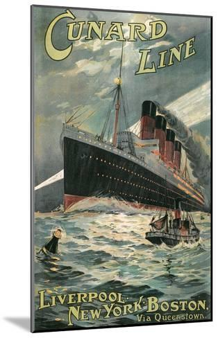 Vintage Travel Poster for Cunard Lines--Mounted Art Print
