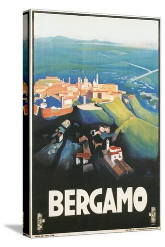 Travel Poster for Bergamo, Italy--Stretched Canvas Print