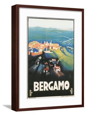 Travel Poster for Bergamo, Italy--Framed Art Print