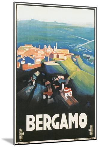 Travel Poster for Bergamo, Italy--Mounted Art Print
