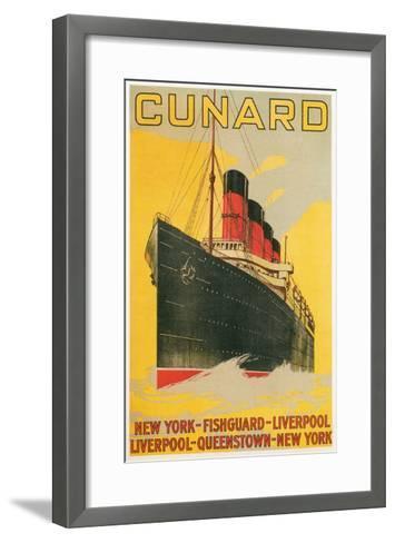 Vintage Travel Poster for Cunard Line--Framed Art Print