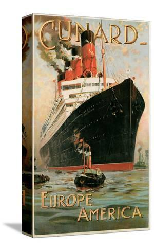 Vintage Travel Poster for Cunard Line--Stretched Canvas Print