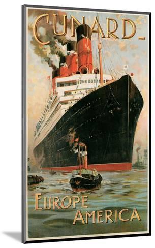 Vintage Travel Poster for Cunard Line--Mounted Art Print